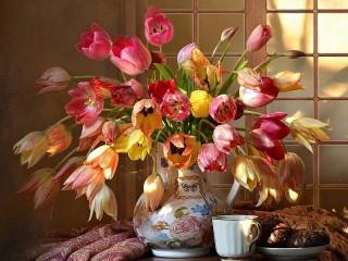 Собирать пазл Tyulpani v vaze онлайн