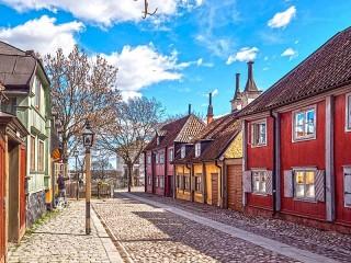 Собирать пазл Street of the Master Mikael онлайн