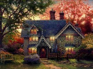 Собирать пазл Cozy cottage онлайн