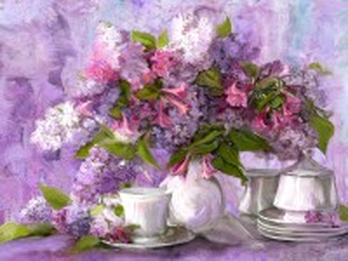 Собирать пазл In purple tones онлайн