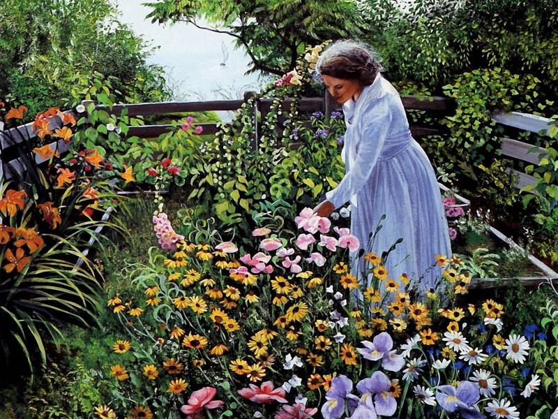 Rompecabezas Recoger rompecabezas en línea - In the own garden