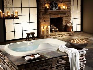 Собирать пазл Bathroom with fireplace онлайн