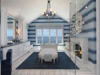 Собирать пазл Bathroom with views of the sea онлайн