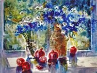 Собирать пазл Cornflowers and pomegranates онлайн