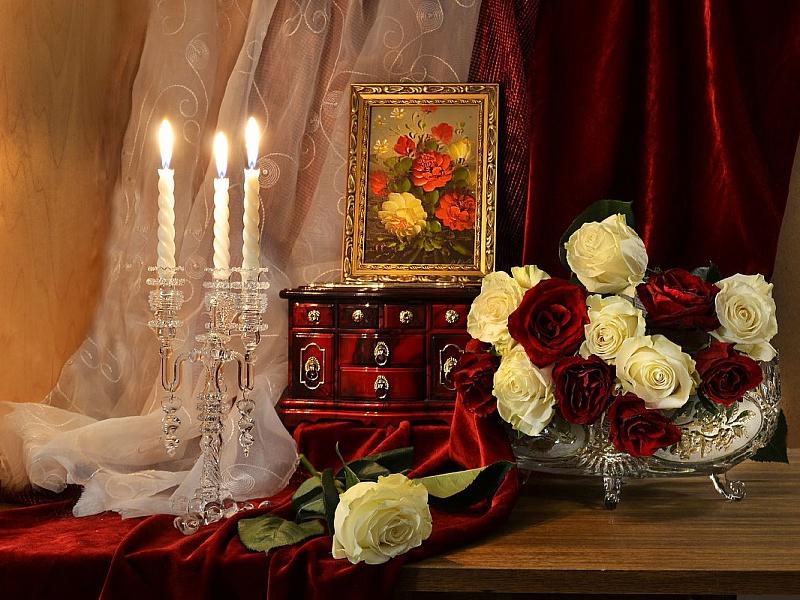 Rompecabezas Recoger rompecabezas en línea - Evening roses
