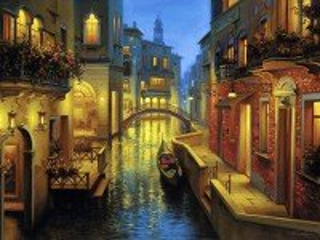 Собирать пазл Evening Venice онлайн