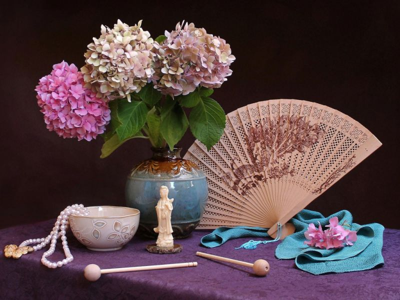 Rompecabezas Recoger rompecabezas en línea - Fan and lilacs