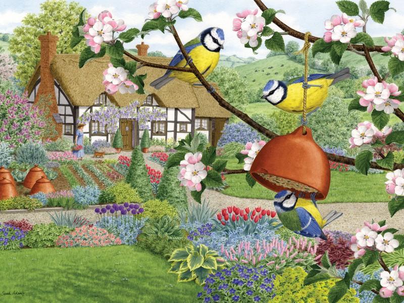 Rompecabezas Recoger rompecabezas en línea - In spring in garden