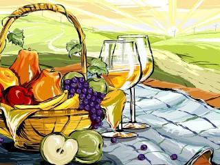 Собирать пазл Vino i frukti онлайн