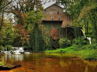 Собирать пазл Water mill онлайн