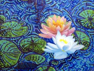 Собирать пазл Vodyanie lilii онлайн