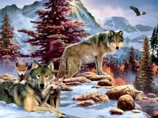 Собирать пазл Wolves 1 онлайн
