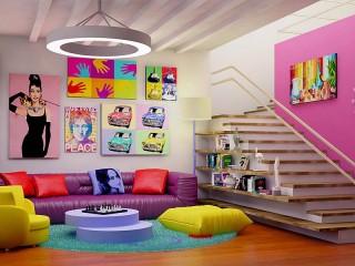 Собирать пазл Bright interior онлайн