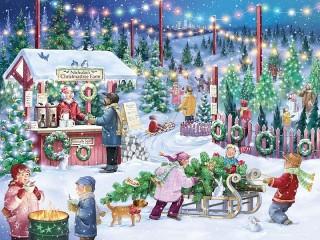 Собирать пазл Christmas Bazaar онлайн