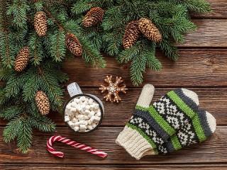 Собирать пазл Green mittens онлайн
