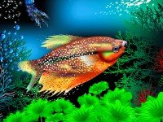 Собирать пазл Zhitel akvariuma онлайн