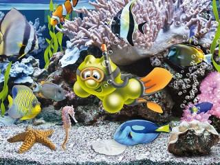 Собирать пазл Life of Gelini - Diving онлайн