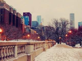 Собирать пазл Chicago in winter онлайн