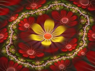 Собирать пазл Golden flower онлайн